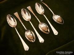 6 db jugendstil ezüst teáskanál