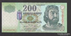 "200 forint 2005. ""FC""  UNC !  RITKA!"