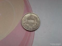 1915 magyar ezüst 1 korona szép-patina keresett