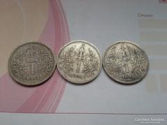 1893,94,95 ezüst koronák egyben