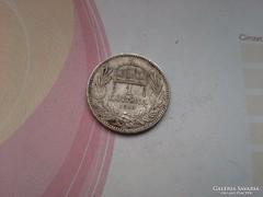 1915 gyártás hibás(!?) ezüst magyar 1 korona(sorja, felületi