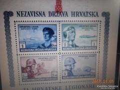 1943/Légiós Blokk Horvát Postatiszta