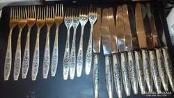 Aranyozott ezüst készlet  - 10 személyes