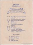 Ceglédi Szabadság Filmszinház műsor - 1961-1962