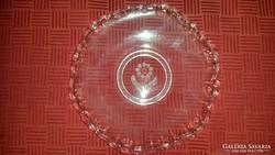 Üveg süteményes tányér 6 db