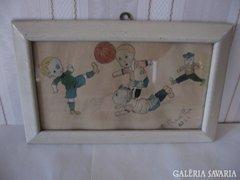Blaskovits Lajos karikatúra akvarell 1923'-ból