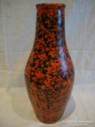 Jelzett Tófej retro kerámia váza
