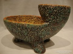 Retro iparművész kerámia teknős váza