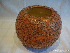 Tófej retro iparművész kerámia gombóc váza