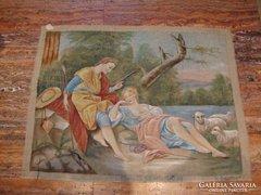 F.Boucner Elaludt pásztorleány festmény repro