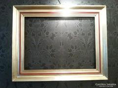 Nagy méretű ezüst színű képkeret bordó díszítéssel 64 x 82,5