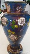 Zománcozott fém váza ritka darab