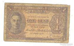 1 cent 1941 Malaya II.