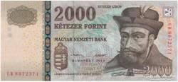 2000 Forint - 2013 - CB - (2 aláírás) - UNC - bankfriss