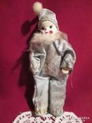 Porcelán bohóc  baba 16 cm