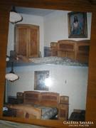 Hálószoba Garn 6db-os. Bauhaus art decó lószőr matracos+csillár kuriózum