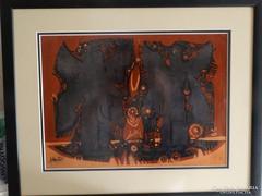 Xantus Gyula festmény, olaj kartonon