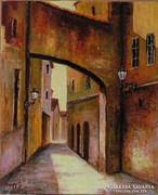 UTCARÉSZLET- festmény