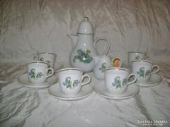 Porcelán kávés készlet - német