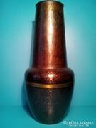 Iparművész réz váza. 28 cm jelzett