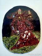 Kerámia falikép fali dísz