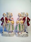 Barokk pár párban porcelán lámpatestek a kedvező ár két darab ára együtt