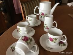 Rózsás, 4 személyes teás, Epiag, 1930 körüli