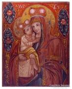 Erdélyi templomi festő : Istenanya a gyermekkel