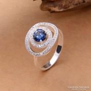 Kék köves gyűrű 8-as ÚJ!