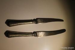 Antik biedermeier kés 2 db.