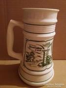 Alföldi porcelán sörös kupa, sorszámozott
