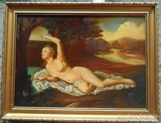 Antik szep akt festmeny