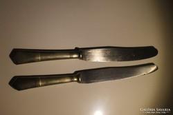 2 db antik alpakka kés.