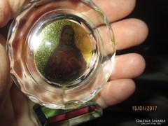 Jézus szentkép üvegbe dolgozva, álló dísz