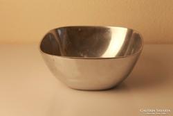 Retro alumínium kínáló tál,  asztalközép