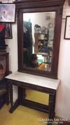 Ónémet konzolasztalos tükör