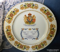 The Queen Mother, porcelán falitányér, dísztányér, gyűjtői