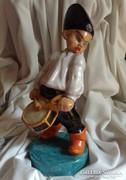 Darabos kerámia dobos fiú falusi gyerek hangszer dob játék