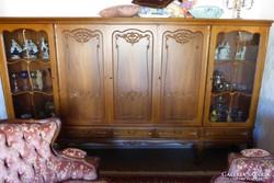 Chippendél barokk 5 ajtós 285x166x45cm nappali szekrény