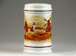 0K580 Jelezett Hollóházi porcelán söröskorsó