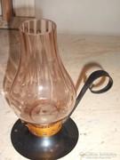 Antik gyertyatartó üvegbúrával eladó!