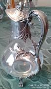 Üveg karaffa ón szerelékkel