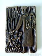 Bronz igazságosztó szent falikép