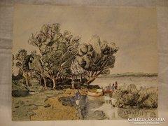 Kiss Gy. ( Gyula ) 1953 Balatoni halásztanya