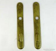 0K644 Antik réz ajtócím pár