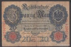 1909. Reichsbanknote, 20 R.Mark.