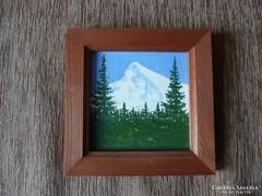 Havas hegycsúcs tájkép