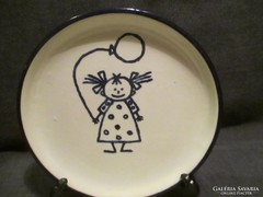 Kézzel festett süteményes tányér  A042