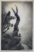 """Matolcsy jelzéssel : """"Gellért püspök halála"""" 1925"""