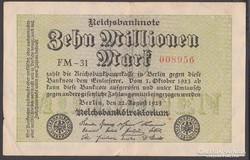 1923. 10 millió Reichsmark.